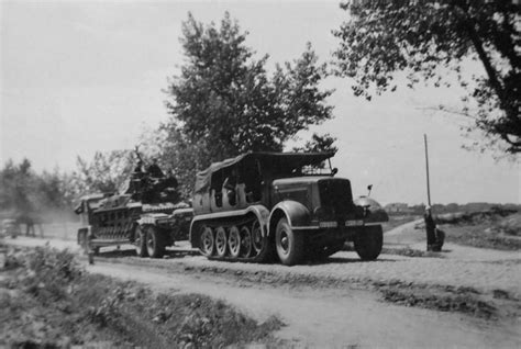 Boyset 3in1 Cars Size 8 12t schwerer zugkraftwagen 12t sdkfz 8 with trailer used as tank recovery vehicle 1940