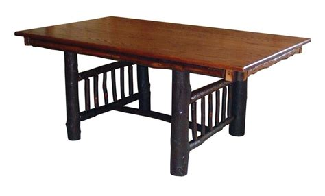 hickory dining room table dining table amish hickory dining table