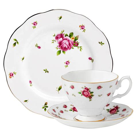 Teacup New Country royal albert new country roses teacup saucer plate set