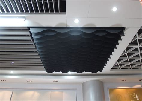 Custom Ceiling Panels by Custom Color Commercial Ceiling Tiles Waved Shaped