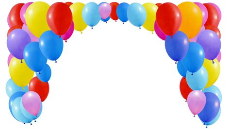 Balloons background loop able 3d animation alpha included stock footage video 2886511