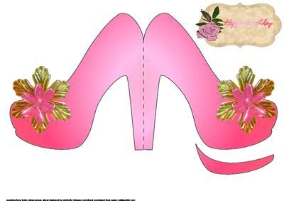 shoe template for card pink shoe shaped card cup52112 376 craftsuprint