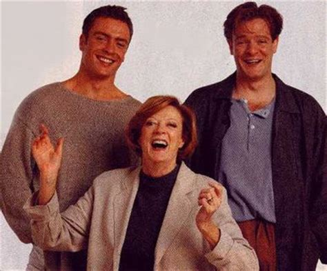 british actor chris larkin dame maggie smith with her sons actors toby stephens and