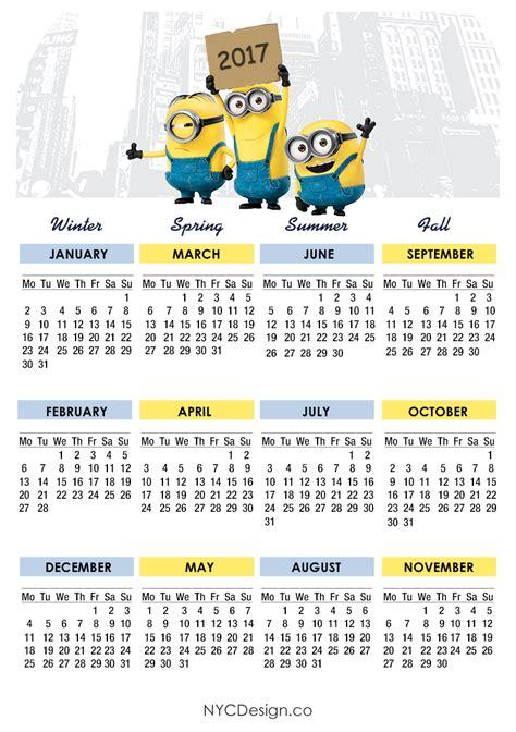 minion desk calendar 2017 york web design studio york ny minions calendar