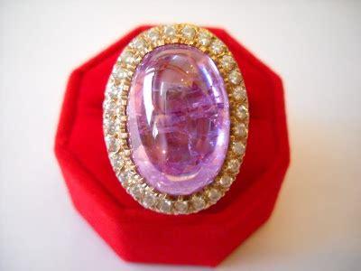 Batu Permata Kecubung Amatis nazman enterprise koleksi cincin perak lelaki bertatahkan batu amatis