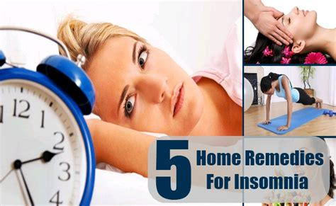 insomnia home remedies treatments cure for