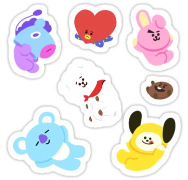 """bt21 sticker set"" stickers by zerokara 