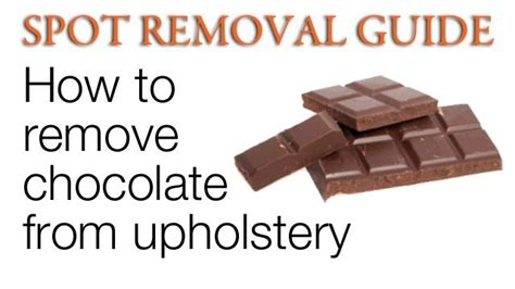 removing chocolate stains from upholstery pin by michelle saladonis on cleaning and organization