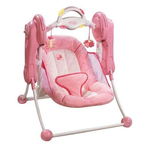 pink baby swings infant pink kisses travel swing reviewsmysears community