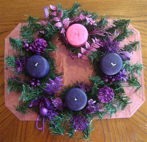 adventskranz pink make pink and purple advent candles