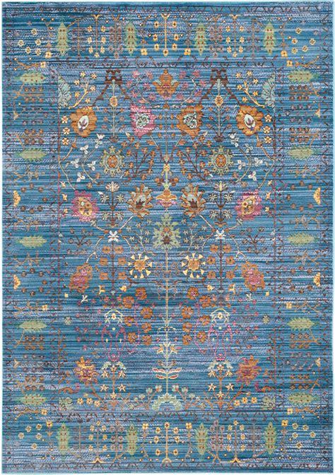 Safavieh Locations Brilliant Blue Antique Styled Area Rug Val108m Safavieh