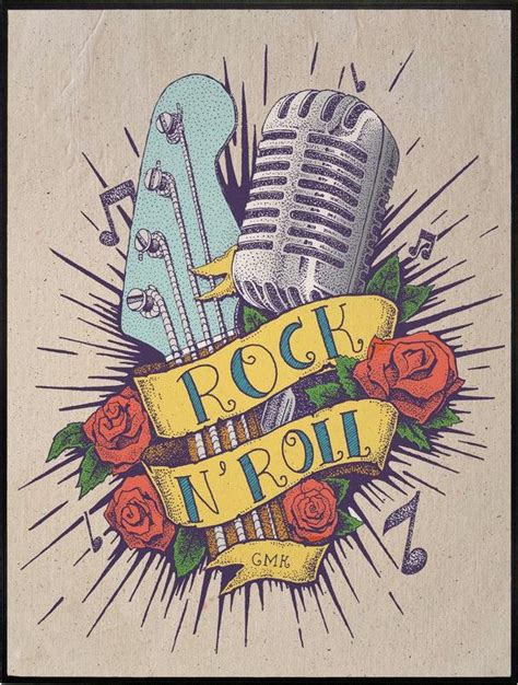 rock and roll tattoo designs rock n roll intricate modern day designs