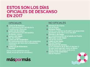 Calendario 2018 Dias Festivos Mexico D 237 As De Descanso Oficiales 2017