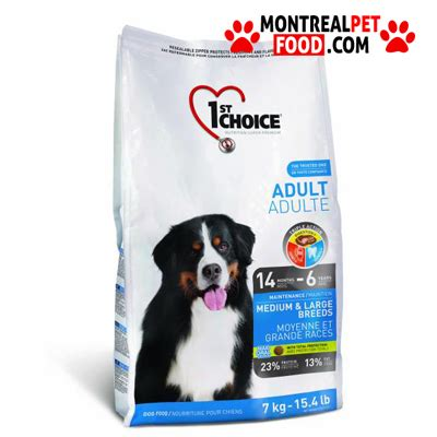 1st Choice Puppy Small Breeds Food 1st choice large breed montreal pet food