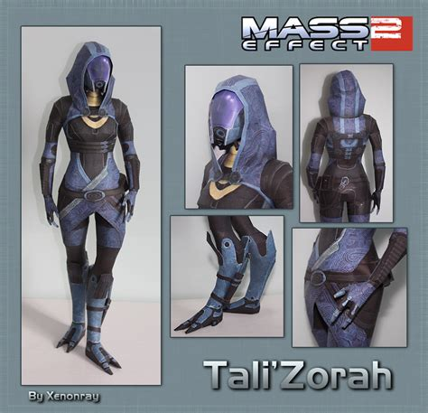 Mass Effect Papercraft - tali papercraft by avrin on deviantart