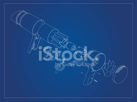 Hair Dryer Exploded View blueprint hairdryer exploded view stock vector