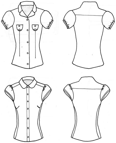 Drawing Blouse blouse sketches blouse styles