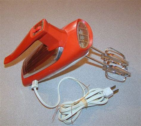 Mixer General vintage 3 speed orange ge general electric mixer