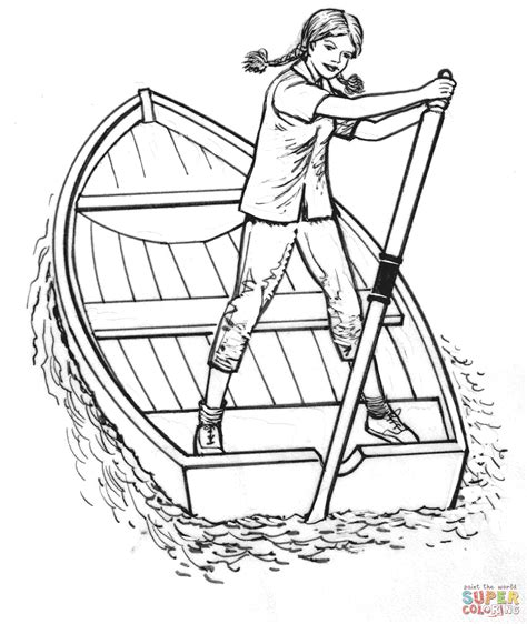 boat drawing prints girl on a boat coloring page free printable coloring pages