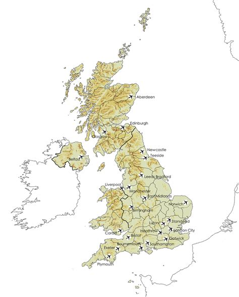 map uk airports airports in the uk britainvisitor travel guide to britain
