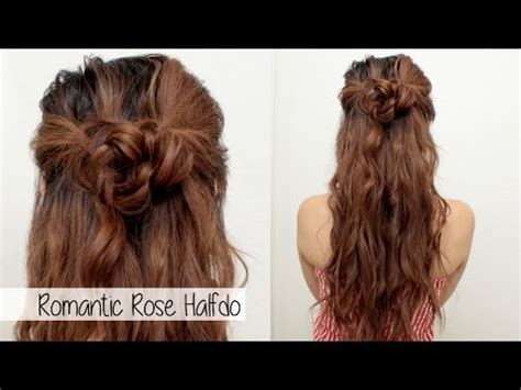 rose hairstyle half up half down cute holiday hairstyle for medium long hair l braided