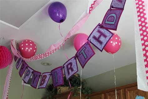 the house decorations for the babies birthday