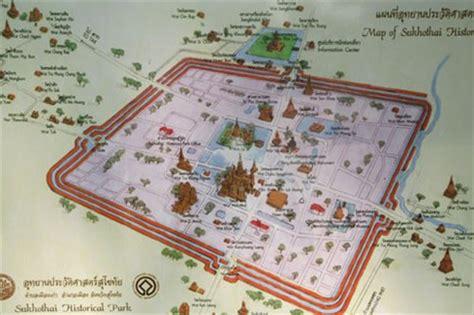 sukhothai historical park map map of sukhothai historical park thailand thailand