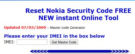online reset nokia security code reset nokia security code free instant online tool any