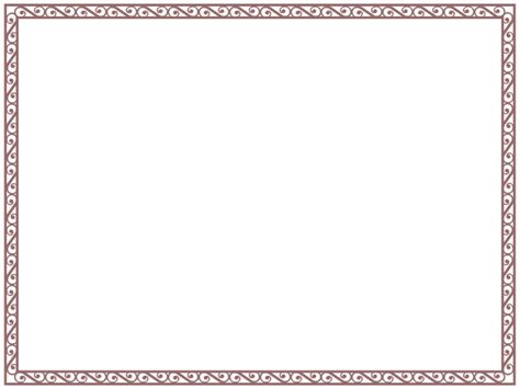 Border Templates For Word Exle Mughals Border Template