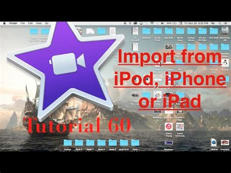tutorial imovie 10 0 8 import from ipod iphone or ipad to imovie 10 0 6