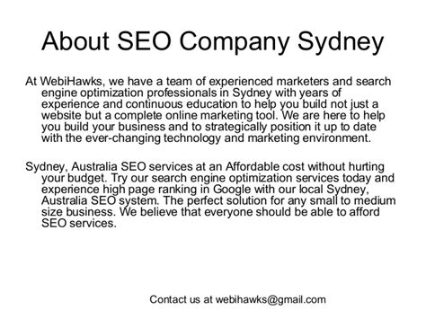 Sydney Australia Search Search Engine Optimization Services Sydney Australia Webihawks