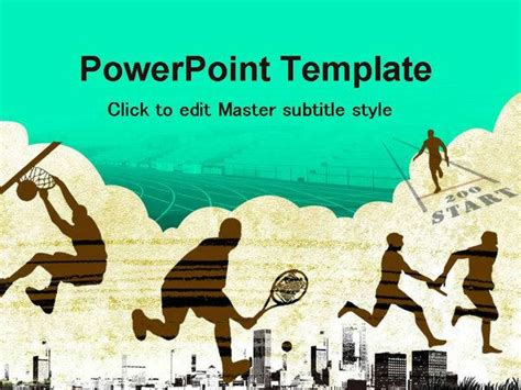 template ppt sport free outdoor sports ppt template ppt