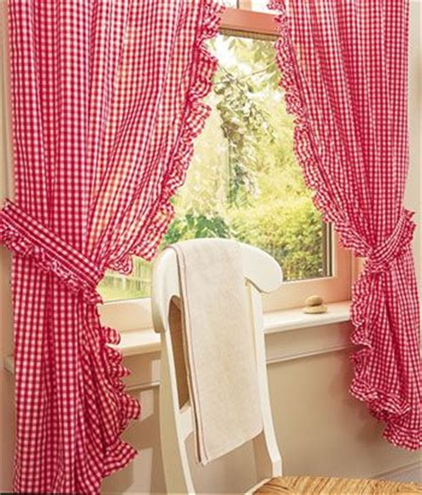 gingham country curtains rod pocket curtains drapes gingham ruffled curtains