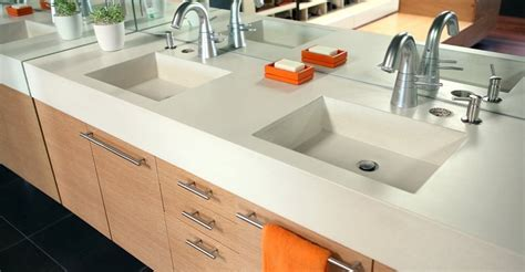 one piece bathroom sink and countertop concrete sinks and vessels the concrete network