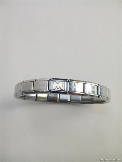 braccialetti con lettere bracciale lettera uomo donna nomination acciaio e oro 18