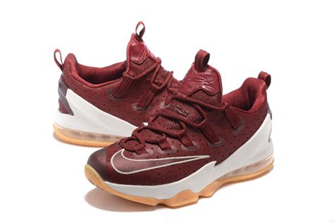 low top basketball shoes for sale nike lebron 13 low cavs team sail black basketball