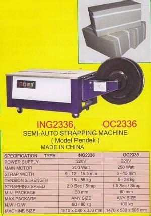Mesin Strapping Semi Electrical ing2336t semi auto strapping machine products of mesin