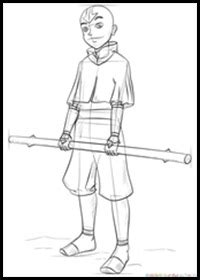 How to Draw Avatar, The Last Airbender Characters with
