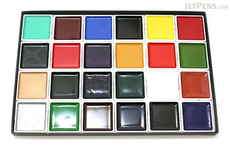 akashiya japanese gansai watercolor palette box  color