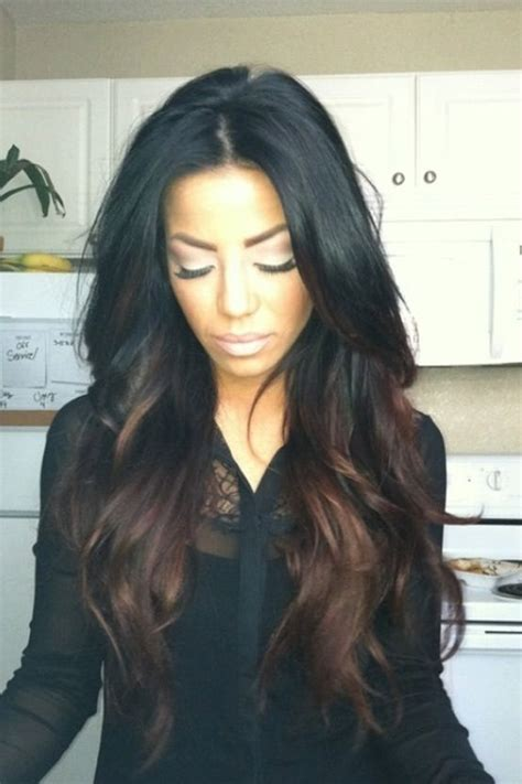 do it yourself highlights for dark brown hair black hair with brown highlights towards the ends hair