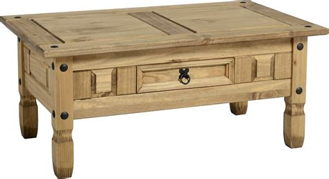Corona Mexican Pine Coffee Table   Let Us Furnish