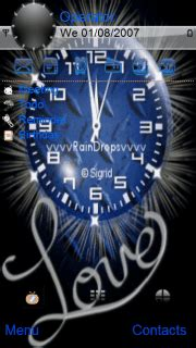 clock themes wap in download love clock blue s60v5 theme nokia theme mobile