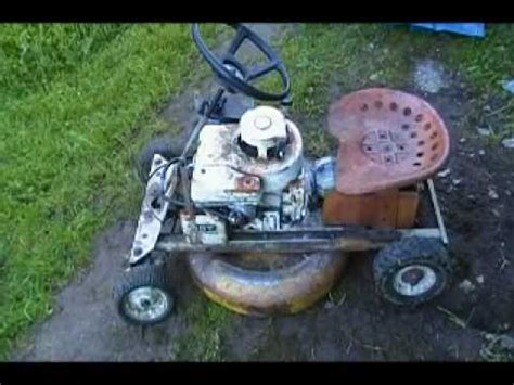1960 mustang mowett riding mower youtube