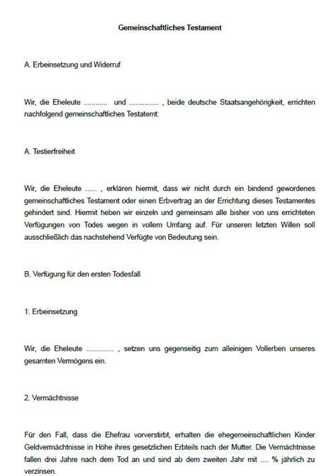Testament Vorlagen Muster Kostenlos 16 Testamente Im Sparpaket Sofort Zum