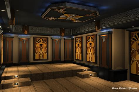 home theater design new york art deco home theater contemporary rendering new