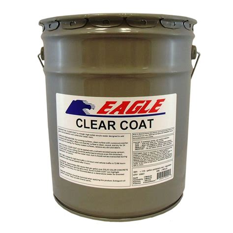 Clear Acrylic Sealer 5 gal clear coat high gloss based acrylic topping
