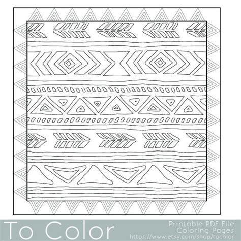 tribal pattern coloring pages tribal coloring download tribal coloring