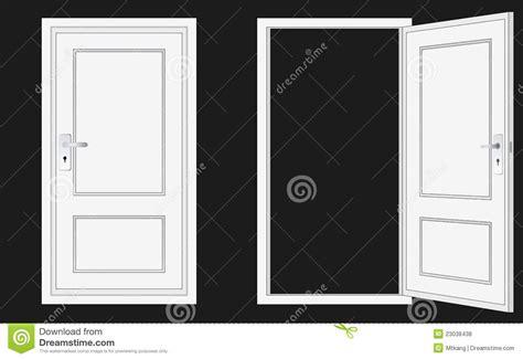 porta chiusa aperto ed a porta chiusa illustrazione di stock immagine