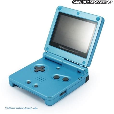 gameboy advance sp console gameboy advance console gba sp surf blue ags 101 incl