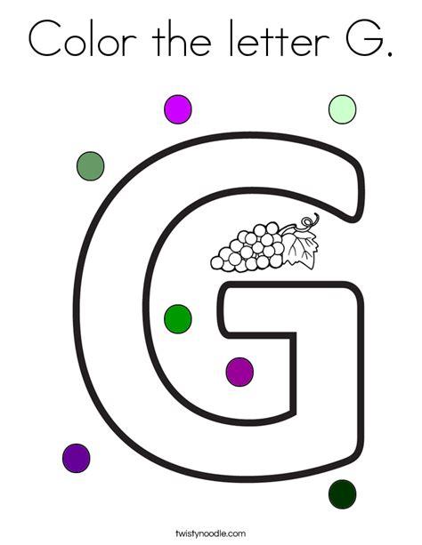 g color color the letter g coloring page twisty noodle